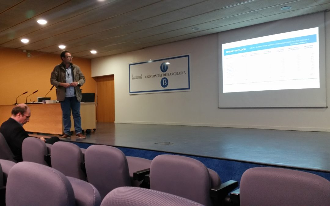 Lecture at the University of Barcelona about Nanocoatings Market